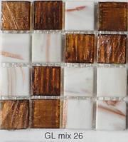 Мозаика для кухни с авантюрином Vivacer GLmix 26