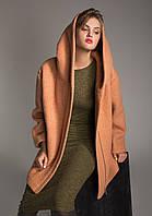 Женское шерстяное пальто с капюшоном