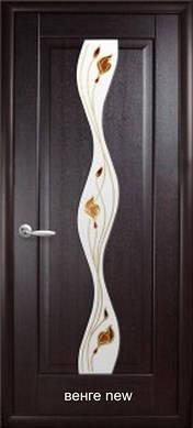 """Двери Волна стекло с рисунком Р1 пвх """"De Luxe"""""""