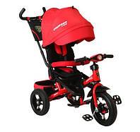 Трехколесный велосипед Azimut Crosser T-400 надувные колеса, фара, красный
