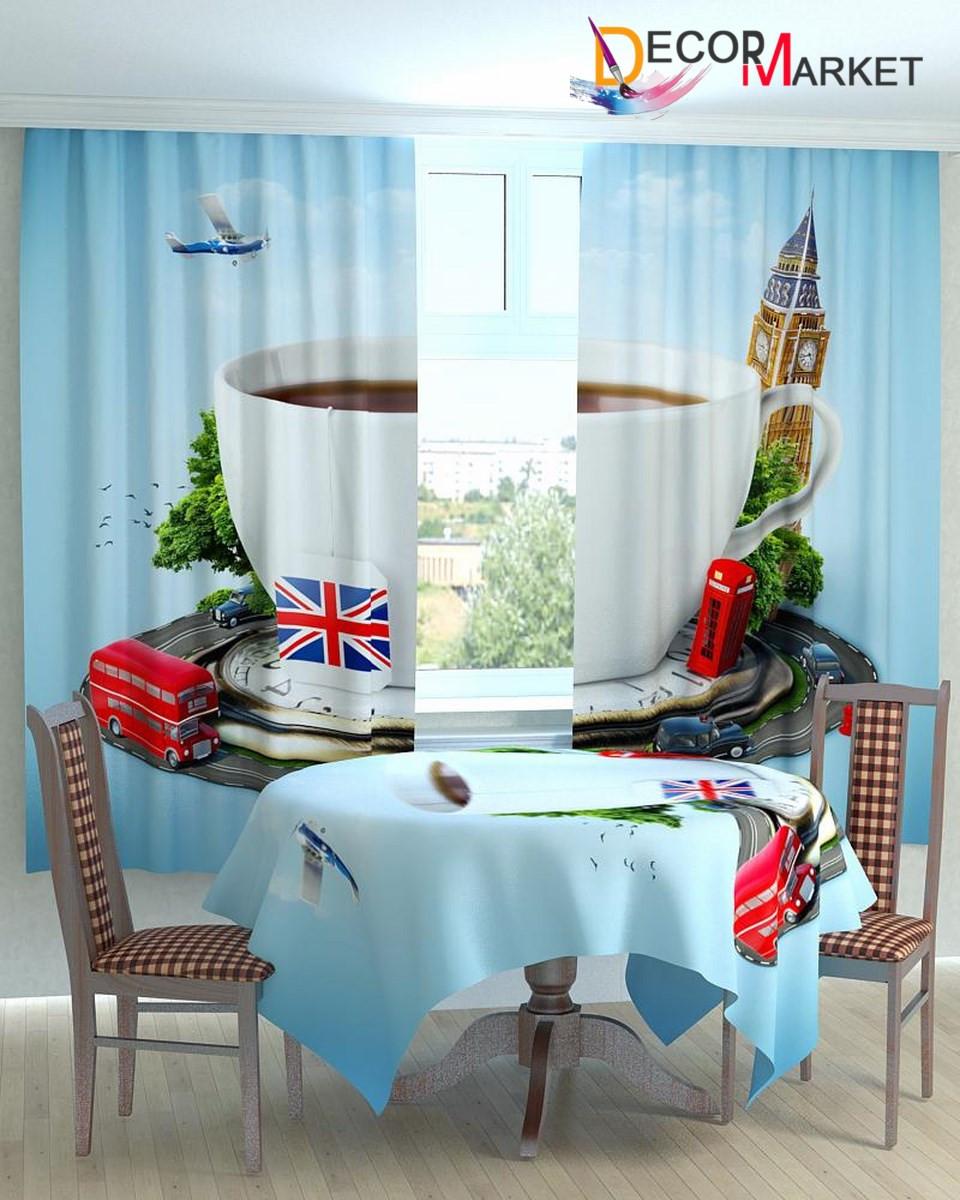 Фотошторы для кухни чашка Лондон