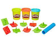 Ведерко с формочками и пластилин Play-Doh Цифры, 3 баночки