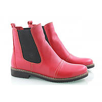 Женские  ботинки Челси красные