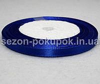 Лента атласная ширина 0,6 см. (23 метра)  цвет синий электрик