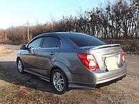 "Накладка на задний бампер Chevrolet Aveo T300 ""Atlantis"", Шевроле Авео, фото 1"