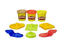 Ведерко с формочками и пластилин Play-Doh Пикник, 3 баночки