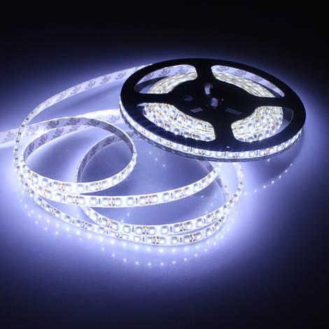 Светодиодная лента SMD 3528, 120 диодов/м, 12V, 9.6W/m, 9lm, IP65, герметичная, 5 метров, белая