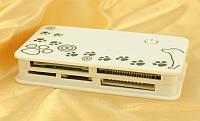 Картридер USB 2.0 XD9, картридер внешний usb, универсальный картридер usb 2.0