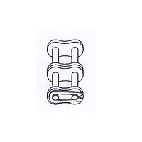 Соеденительное звено с пружинным замком для двойной цепи