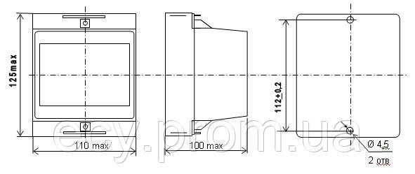 Е855/1-М1 - измерительный преобразователь напряжения переменного тока, фото 2
