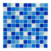 Мозаика стеклянная Aquaviva Cristall Bahama темная 425002