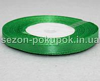 Лента атласная ширина 0,6 см. (23 метра)  цвет - весенний зеленый