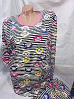 Женская молодежная велюровая пижама 44-48рр