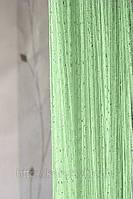 Шторы-нити кисея Дождь №15 (салатовый)