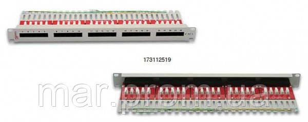 """Патч-панель телефонная ISDN 25п Кат3 90° RJ-45 Dual IDC 19"""" 1U PL"""
