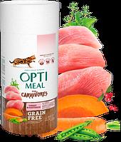 Сухой корм для кошек Optimeal (Оптимил) беззерновой (ИНДЕЙКА и ОВОЩИ) 0.65 кг