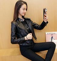 Жіноча шкіряна куртка. Модель 2032, фото 4