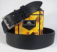 Джинсовый Кожаный ремень итальянской фирмы Tony Perotti 702/40