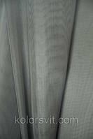 Ткань Шифон для декора окон и помещений, серый