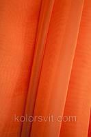Ткань Шифон для декора окон и помещений, оранж