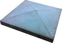 Крышка столба забора четырехскатная (39*39*6 см)