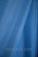Ткань Шифон для декора окон и помещений, темно-голубой