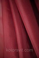 Ткань Шифон для декора окон и помещений, бордовый