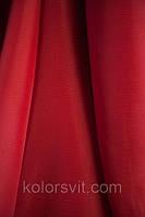 Ткань Шифон для декора окон и помещений, бордово-красный