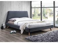 Кровать из ткани Signal Gant серая