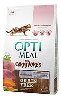 Сухой корм для кошек Optimeal (Оптимил) беззерновой (УТКА и ОВОЩИ) 4кг