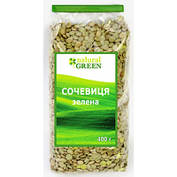 Чечевица зеленая NATURAL GREEN 400 грамм, фото 1