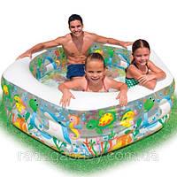 """Детский надувной бассейн """"Океанский риф"""" шестиугольный Intex 56493"""