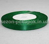 Лента атласная ширина 0,6 см. (23 метра)  цвет - зеленый