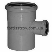 Тройник канализационный внутренний ПП 90° 75х40 мм Valrom