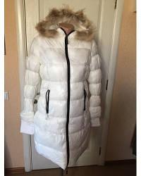 Пальто-пуховик куртка  Miss-sixty белое с капюшоном в интернет магазине