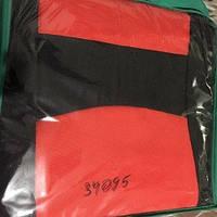 Чехлы модельные сидения ВАЗ 2109 черно-красные на поролоне (зеленая сумка)