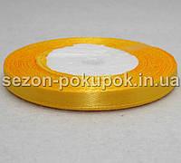 Лента атласная ширина 0,6 см. (23 метра)  цвет золотистый