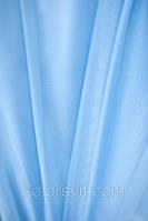 Ткань Шифон для декора окон и помещений, небесный