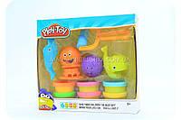 Тесто для лепки Play-Toy набор «Морские обитатели» SM8012 (фигурки, 6 цветов)