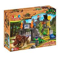Конструктор JDLT 5245 динозавр, строение, фигурки, 106 деталей, в коробке, 48-37-12,5 см