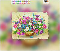 """Схема для вышивки бисером """"Полевые цветы"""", на холсте А4"""