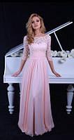 Вечернее платье (Веч-МП-17-01) для выпускного вечера, свидетельницы и пр. мероприятий (цвет - персик, 42-44)