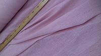"""Ткань полу льняная """"марля"""" для декорирования интерьеров, пошива гардин и штор (розовый baby)"""