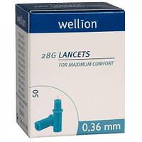 Ланцеты Wellion 28G (0, 36 мм), 50 шт. (Австрия)