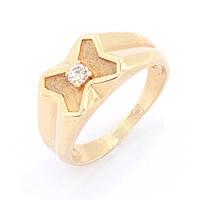 Золотой перстень с бриллиантом