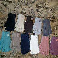 Женские перчатки c бантиком Корона