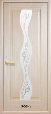 """Двери Волна стекло с рисунком Р2 пвх """"De Luxe"""""""