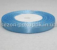 Лента атласная ширина 0,6 см. (23 метра)  цвет - голубой