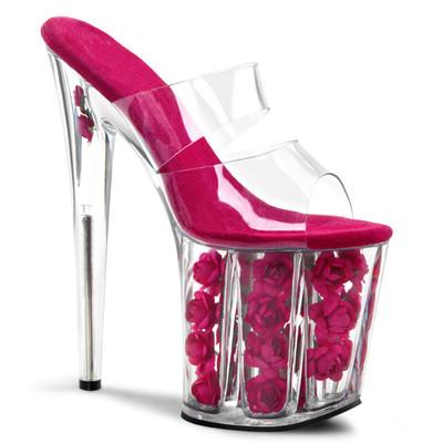 Кристалл  роза стрип туфли каблук 20 см ультра высокий 4 цвета