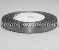 Лента атласная ширина 0,6 см. (23 метра) цвет - серый
